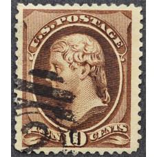 1870 Май США Томас Джефферсон 10 центов