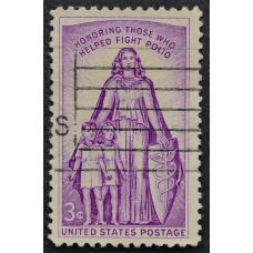 1957 Январь США Борьба против Полиомиелита 3 цента