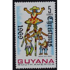 1969, ноябрь. Почтовая марка Гайаны. Рождество. 5 центов