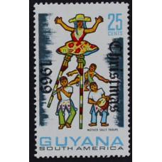 1969, ноябрь. Почтовая марка Гайаны. Рождество. 25 центов