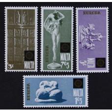 1974, июль. Набор почтовых марок Мальты. Скульптуры