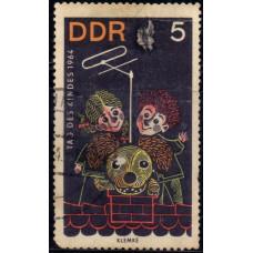 1964, июнь. Почтовая марка Германии (ГДР). День детей. 5 пфенинг