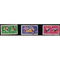1961, май. Набор почтовых марок Германии (ГДР). Встреча пионеров в Эрфурте