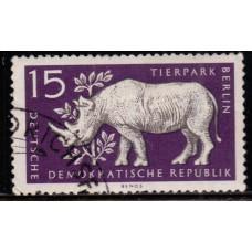 1956, декабрь. Почтовая марка Германии (ГДР). Берлинский зоопарк. 15 пфенинг