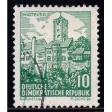 1961, июнь. Почтовая марка Германии (ГДР). Пейзажи. 10 пфенинг
