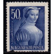 1944, август. Почтовая марка Венгрии. Великие женщины венгерской истории. 50 филлер