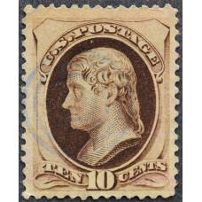 1873 США Томас Джефферсон 10 центов