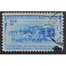 1952 Февраль США 125-летие Железнодорожной Хартии Балтимора и Огайо 3 цента