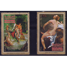 1971, апрель. Набор марок Манама (ОАЭ). Римская мифология, airmail