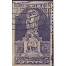 1926. Почтовая марка США. 5 центов. 1926. Мемориал Джона Эрикссона - USA. 5 cents. 1926. John Ericsson Memorial