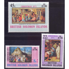 1973, ноябрь. Набор почтовых марок Соломоновых островов. Рождество