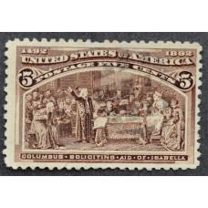 1893 Февраль США Путешествия Колумба 5 центов