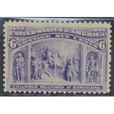1893 Февраль США Путешествия Колумба 6 центов