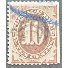 1891 США Доплатная Марка 10 центов