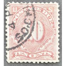 1894-1917 США Доплатная Марка 10 центов