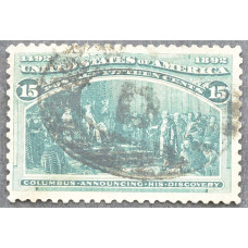 1893 Февраль США Путешествия Колумба 15 центов