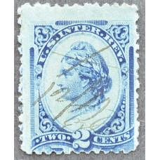 1875-1878 США Доходная Марка 2 цента