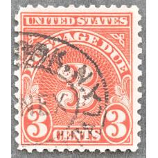1894-1917 США Доплатная Марка 3 цента