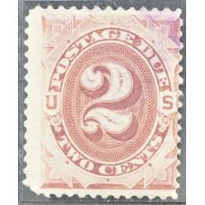 1891 США Доплатная Марка 2 цента