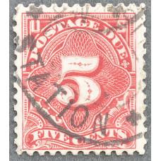 1894-1917 США Доплатная Марка 5 центов