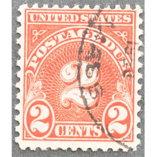 1930-1931 США Доплатная Марка 2 цента