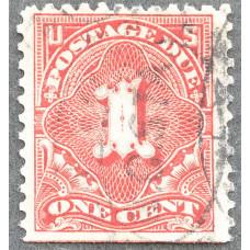 1894-1917 США Доплатная Марка 1 цент
