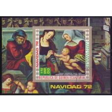 1972, ноябрь. Сувенирный лист Экваториальной Гвинеи. Рождество (2)