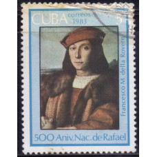 1983, сентябрь. Почтовая марка Кубы. 500 лет со дня рождения Рафаэля. 5 центаво