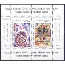 1993 Май Кипр турецкий Марки ЕВРОПА - Современное Искусство