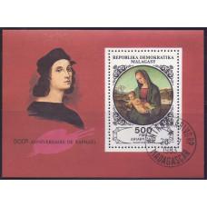 1983 Август Мадагаскар 500 лет со Дня Рождения Рафаэля 500 франков