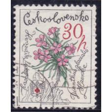 1979 Март Чехословакия Гвоздика Ледниковая 30 геллеров