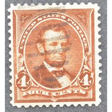 1898 США Авраам Линкольн 4 цента