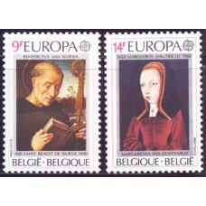 1980 Апрель Бельгия Марки ЕВРОПА - Знаменитые Люди