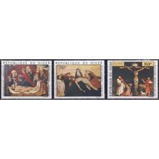 1974, апрель. Набор почтовых марок Республики Нигер. Пасхальные картины