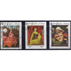 1970, август. Набор почтовых марок Чад. Рождество