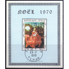 1970, август. Сувенирный лист Чад. Рождество