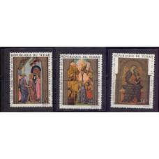 1970, декабрь. Набор почтовых марок Чад. Рождество. Авиапочта