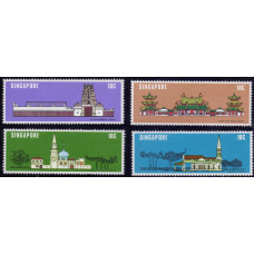 1978, август. Набор марок Сингапура. National Monuments