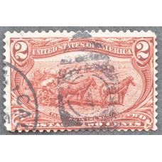 1898 Июнь США Освоение Территории Транс-Миссисипи 2 цента