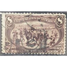 1898 Июнь США Освоение Территории Транс-Миссисипи 8 центов