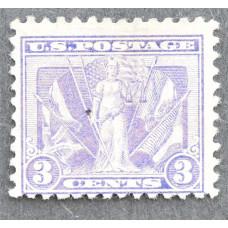 1919 Март США Союзная Победа в Первой Мировой Войне 3 цента