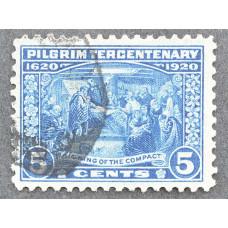 1920 Декабрь США 300 лет Первым Поселенцам Америки (Пилигримы) 5 центов