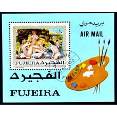 1970 Декабрь Фуджейра (ОАЭ) Авиапочта Картины Ренуара 10 риалов