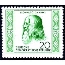 1952 Август Германия (ГДР) Леонардо да Винчи 20 пфеннигов