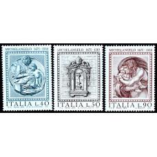 1975 Апрель Италия 500 лет со Дня Рождения Микеланджело