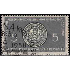 1958, август. Почтовая марка Германии (ГДР). 400-летие Йенского университета. 5 пфенинг