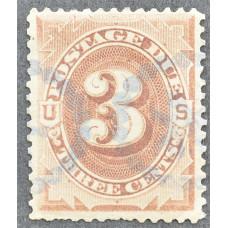 1891 США Доплатная Марка 3 цента