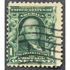 1902 США Бенджамин Франклин 1 цент