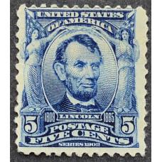1902 США Авраам Линкольн 5 центов
