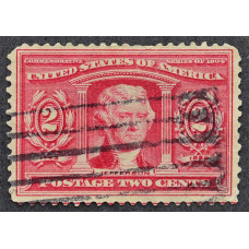 1904 Апрель США Томас Джефферсон 2 цента